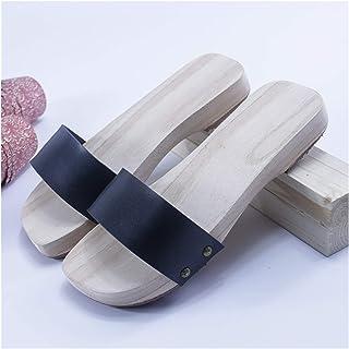 ZCPCS Zapatos de Madera Retro de Verano Tradicionales Hechos a Mano de Madera sin Madera, Zapatillas de Madera (Color : 10...
