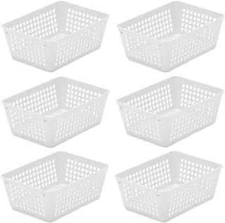 Ybmhome Plastic Storage Supply Basket Office Drawer, Shelf Desktop, Home Junk Drawers, Kitchen Pantry Countertop - Bins Tr...