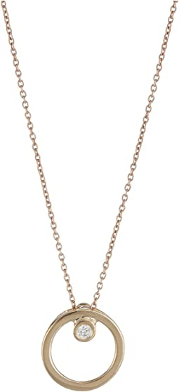 Roberto Coin - Tiny Treasures Circle Pendant Necklace with Diamonds
