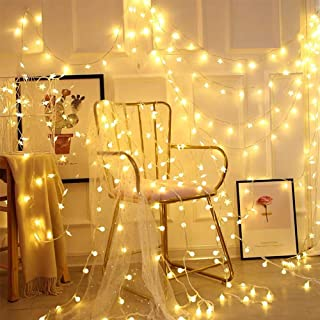 CREASHINE LED Globe String Light,49ft/15m 100 LED Warm White Lights with Timer Waterproof Fairy String Lights, Decorating for Home Patio Party Garden Festival Christmas Wedding Indoor and Outdoor