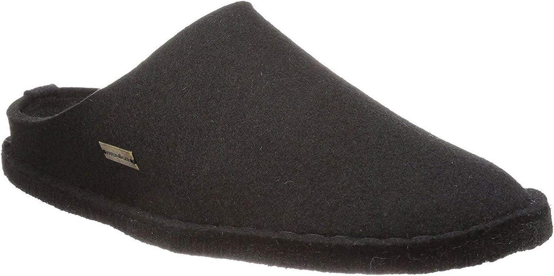 Haflinger 311010 Hausschuhe, Filztoffel Flair Soft, graphit