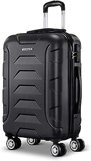 Wanderlite 57cm Luggage 4 Wheel Hard Shell Travel Suitcase, Black