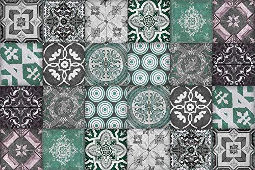 Queence | Protector contra Salpicaduras de Cocina con diseño de Azulejos | Panel Trasero de Cocina | Aluminio DiBond | Protector de Azulejos para Cocina y Fregadero | Cocina | Tamaño: 60 x 40 x 0,3cm