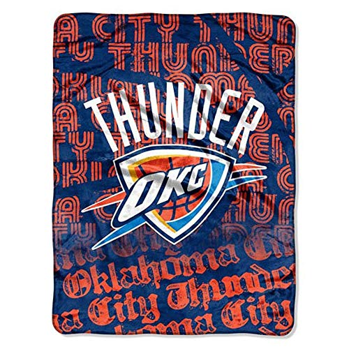 Northwest NBA Oklahoma City Thunder Redux Micro Raschel Throw Blanket