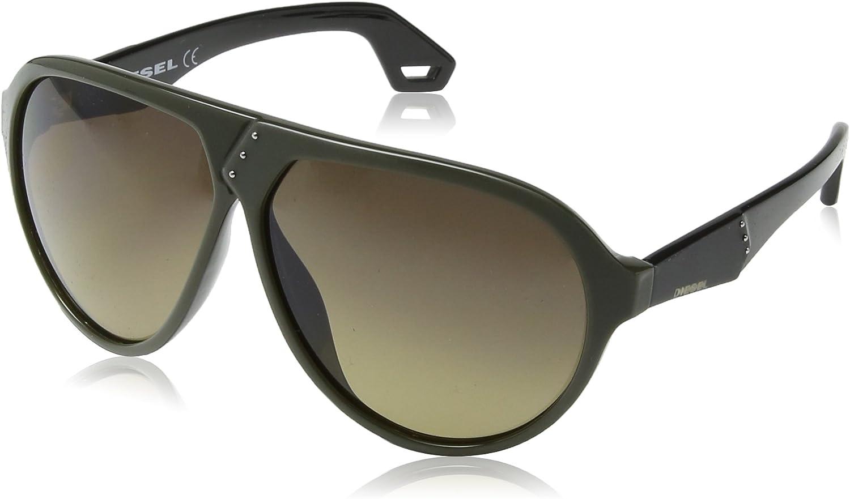 Diesel DL 03 98B Matte Black Grey 63mm Sunglasses