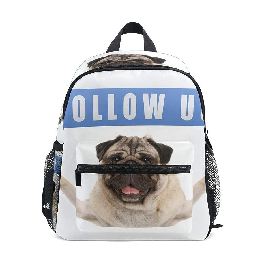 最後のギャラリーエアコンキッズ リュック リュックサック バックパックハバの犬 Follow Us 小サイズ ジュニア通学 バッグ 通園 遠足 デイバッグ 軽量 ポリエステル 撥水加工