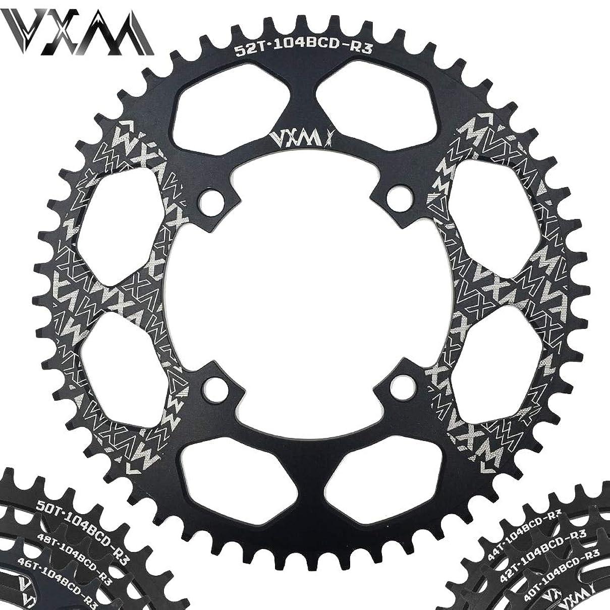 ソーシャルハリケーン城Propenary - Bicycle Aluminum Chainring 104BCD 40T 42T 44T 46T 48T 50T 52T Mountain Bicycle Chainwheel Bike Crankset Bicycle Parts [ 104BCD 46T ]