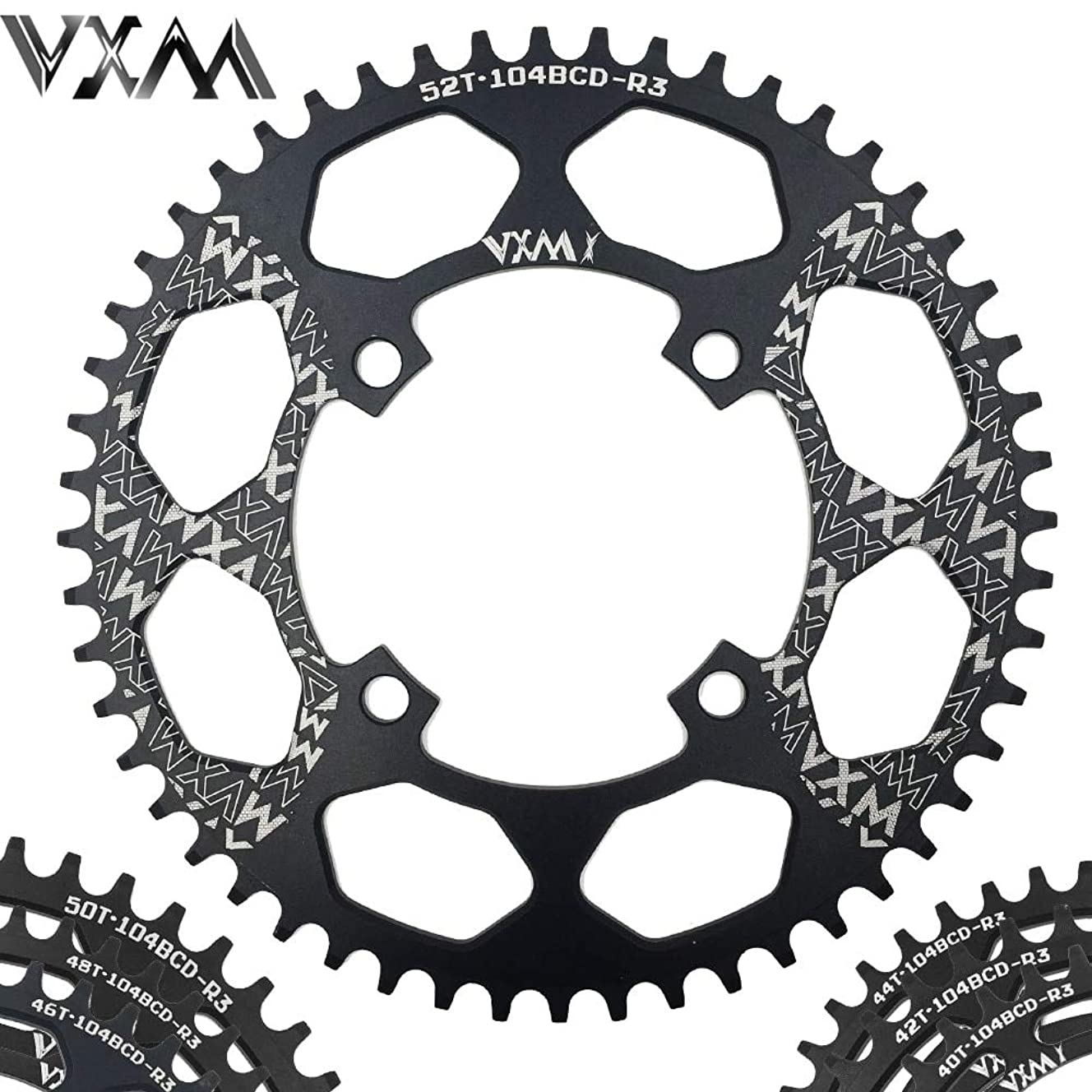 沼地従う押すPropenary - Bicycle Aluminum Chainring 104BCD 40T 42T 44T 46T 48T 50T 52T Mountain Bicycle Chainwheel Bike Crankset Bicycle Parts [ 104BCD 42T ]