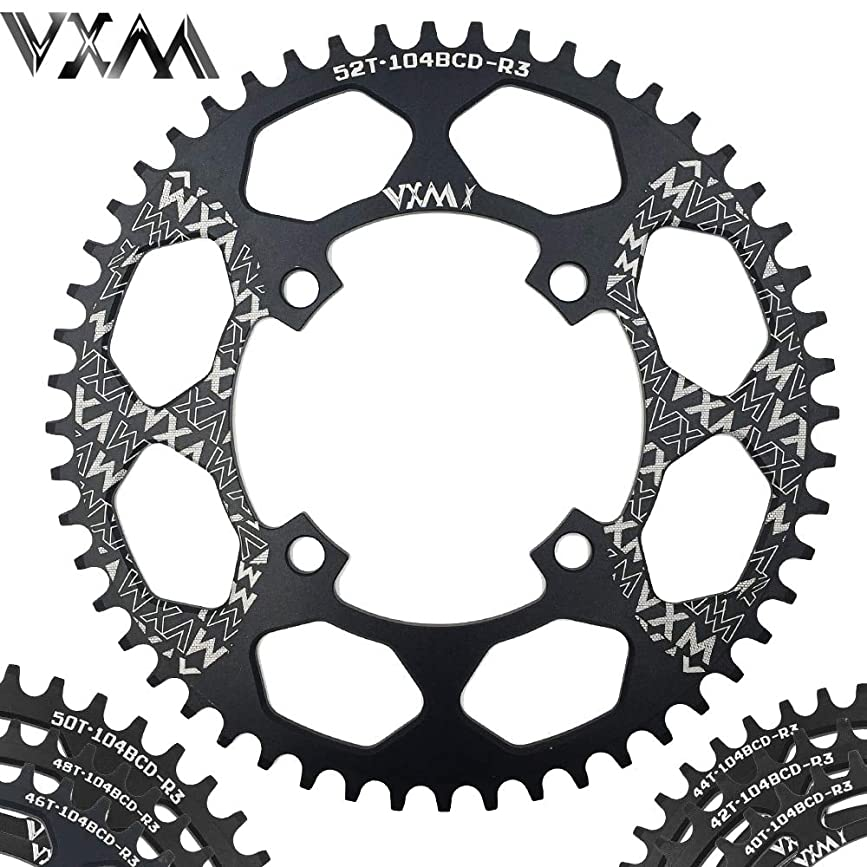 海外で天気専らPropenary - Bicycle Aluminum Chainring 104BCD 40T 42T 44T 46T 48T 50T 52T Mountain Bicycle Chainwheel Bike Crankset Bicycle Parts [ 104BCD 44T ]