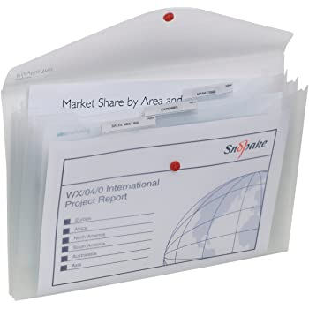 Pack of 5 Snopake Polyfile Classic Foolscap Clear X 2