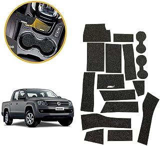Kit de 16 peças, Jogo de Tapetes Amarok 2017/2018/2019 Porta Objetos Copo Titanium Tapetes Automotivos KF0209 Grafite