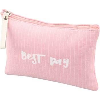 Cute Little Cosmetic Bag for Women Adorable Small Canvas Makeup Bags Travel Toiletry Bag Accessories Organizer (Pink)