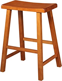 International Concepts 29-Inch Saddle Seat Barstool, Rustic Oak
