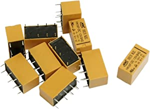 uxcell 10 Pcs DC 12V Coil DPDT 8 Pin PCB General Purpose Power Relay HK19F