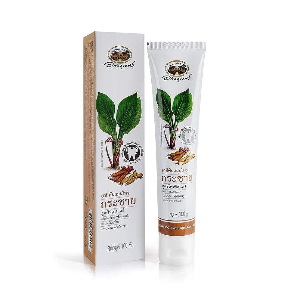 確保するサラダましいAbhaibhubejhr Herbal Toothpaste Total Care Formula Lesser Galanga 100g. Abhaibhubejhrハーブ歯磨き粉トータルケアフォーミュラレガランガランガ100g。
