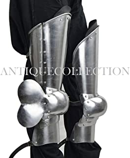 14th - 15th Century Leg Armor - 16 Gauge Silver