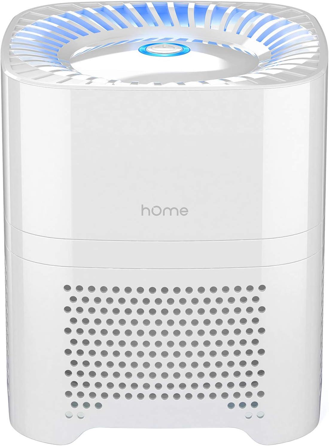 hOmeLabs Purificador de aire compacto 4 en 1: ioniza y purifica silenciosamente el aire para reducir olores y partículas del aire.