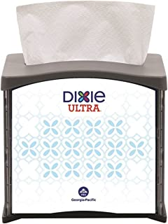 Dixie Ultra Tabletop Interfold Napkin Dispenser (Formerly EasyNap) by GP PRO (Georgia-Pacific), Black, 54527, Holds 300 Napkins, 5.900