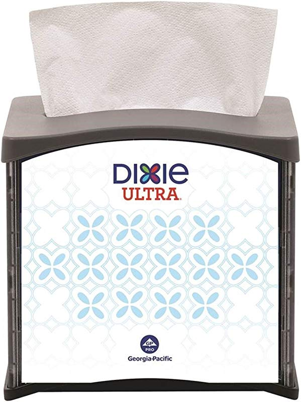 Dixie Ultra Tabletop Interfold Napkin Dispenser Formerly EasyNap By GP PRO Georgia Pacific Black 54527 Holds 300 Napkins 5 900 W X 7 480 D X 6 640 H