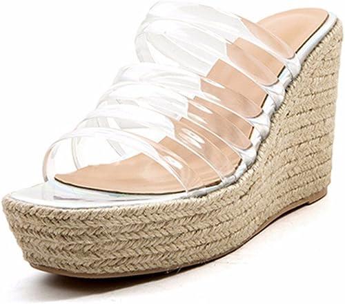 QPSSP Transparente, Hauszapatos, Sandalias, Sandalias, Muffins, Hauszapatos, Sandalias De Tacón Alto, zapatos De mujer.