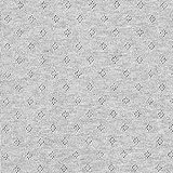 Feinstrickjersey mit Lochmuster Melange – grau —