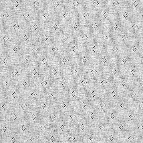 Feinstrickjersey mit Lochmuster Melange – grau — Meterware ab 0,5m — STANDARD 100 by OEKO-TEX® Produktklasse I — zum Nähen von Tops/T-Shirts, Kinderbekleidung und Babybekleidung