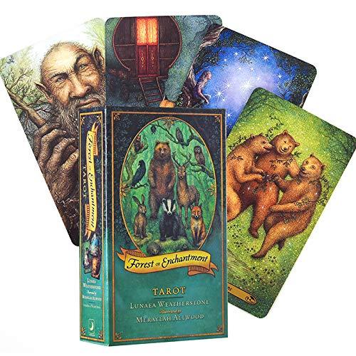 Forest of Enchantment Tarot 78 Kartenspiel, Englisches Pdf-Handbuch, Wahrsagerei über Liebe, Karriere Und Leben, Für Familienversammlungskarten-brettspiel