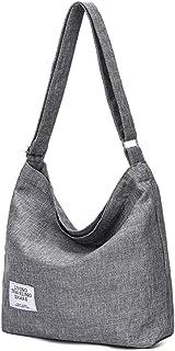 Women Girls Adjustable Canvas Shoulderbag Casual Tote shoulderbag School cross-body handbags Women Bag School Shopping Cro...