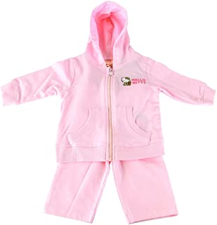 iumei Infant Unisex Clothes Sets Baby Striped Hoodies+Long Pants Pink 2PCs Outfits