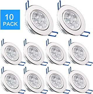 Pack of 10,Modaao LED Ceiling Light Downlight, Spotlight Lamp Recessed Lighting Fixture,with LED Driver (Warm White, Pack of 10,5w)