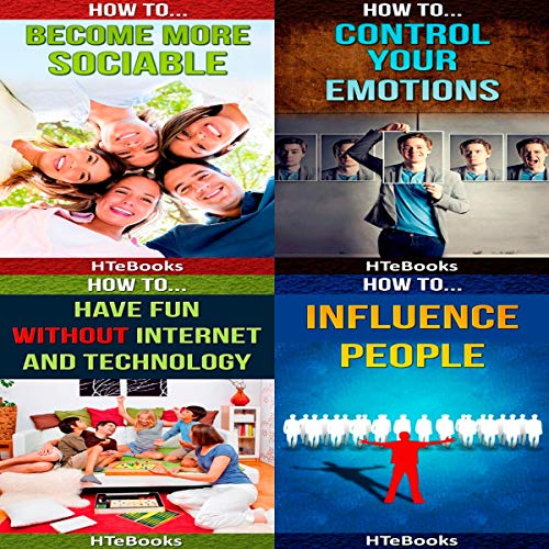 4 Books in 1 - Family & Relationships, Friendship, Conflict Resolution, Activities, Communication and Social Skills, Emotions, Fun with Friends audiobook cover art