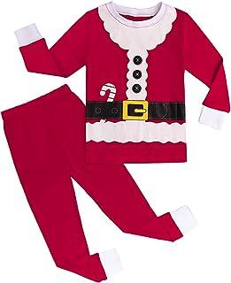 A/&J Design Bambini Ragazzo Natale Babbo Pigiama Set di Vestiti