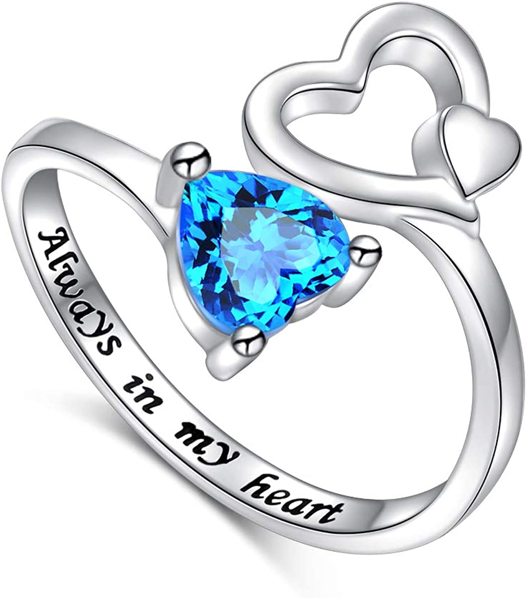 Super beauty product restock quality top! 925 Sterling Silver Heart Shipping included Ring Message Wedding Love fo with