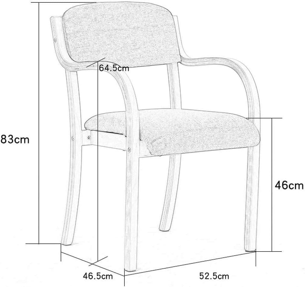 DBL Tabouret Chaise de bureau simple nordique Chaise informatique moderne massif Chaise de bureau en bois de maison Chaise Fauteuil Chaises de bureau (Color : A) C