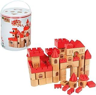 WOOMAX - Castillo medieval en madera 100 piezas (ColorBaby