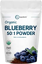 Sustainably Canada Grown, Organic Blueberry Extract 50:1 Concentrate Powder, 6 Ounce, Natural Flavor for Beverage, Smoothie, Baking and Cookies, No GMOs and Vegan Friendly
