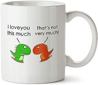 t rex i love you this much mug