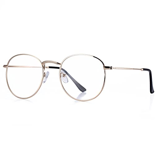 8a8a2e99ff4 Pro Acme Classic Round Metal Clear Lens Glasses Frame Unisex Circle  Eyeglasses