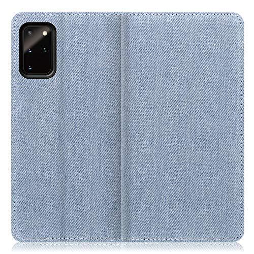 LOOF Denim Galaxy S20+ 5G / SC-52A / SCG02 ケース 手帳型 カバー スマホケース デニム生地 横入れ カード収納付 スタンド機能付 パス入れ 手帳型ケース 手帳型カバー ベルトなし おしゃれ シンプル ブランド (