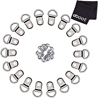 eBoot 100 Pairs D Ring Picture Frame Hanging Hangers Single Hole with Screws (Silver)