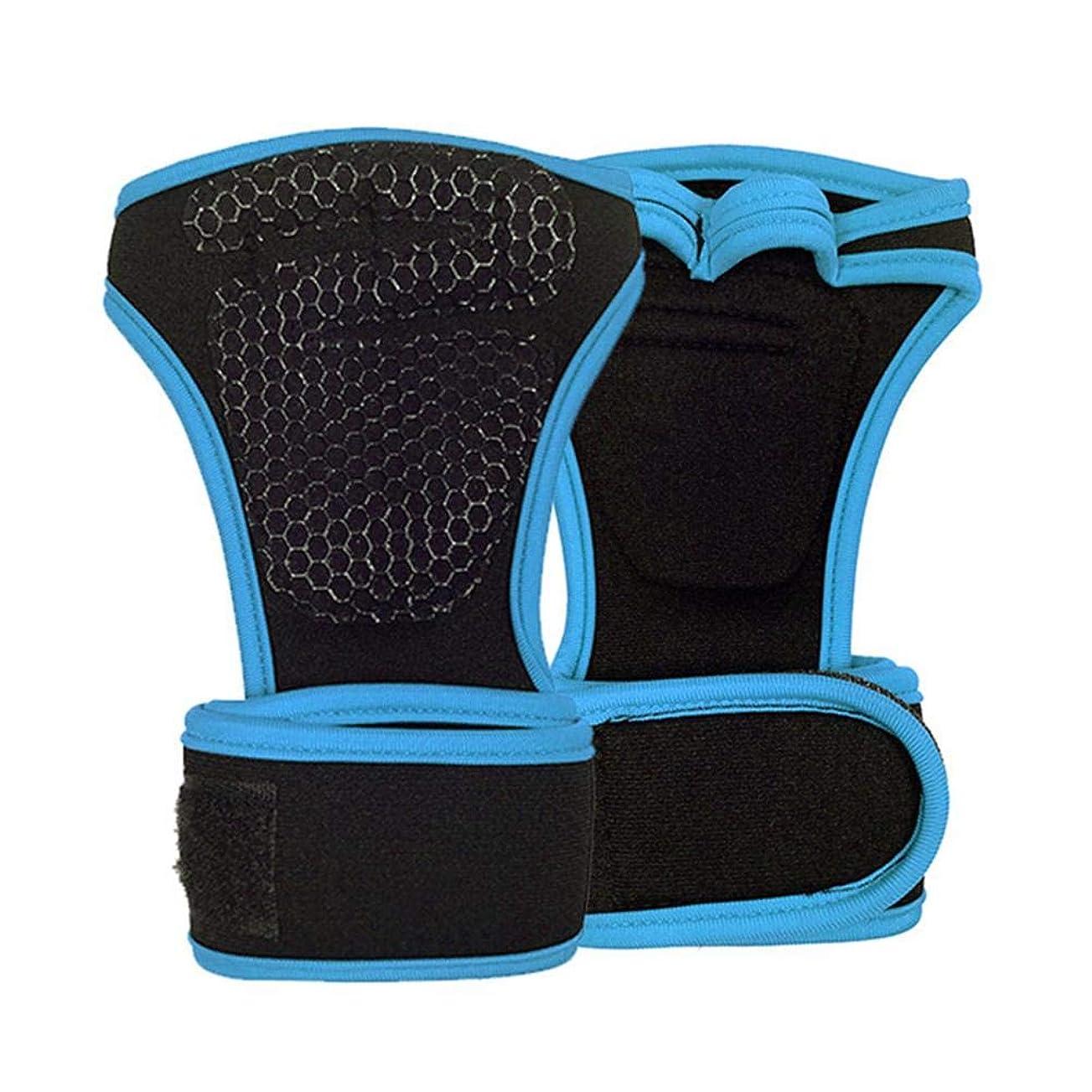 貫通感性乳ダイビングウェイトリフティング手袋トレーニングフィットネススポーツ手のひらサイクリンググローブ(M)ブルー,NewZeroIn