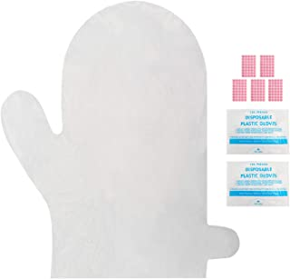 200pcs Plastic Paraffin Bath Bags for Hand, Segbeauty Larger and Thicker Paraffin Wax Hand Liners, Therabath Spa Mitt Glove Liners for Paraffin Wax Machine and Wax Treatment