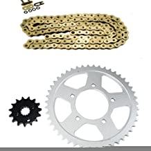 Gold O-Ring Chain and Sprocket Kit for Suzuki GSF 600 Bandit Road 2000 2001 2002 2003 2004