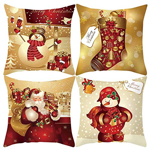 Printasaurus Men Warm  Christmas Xmas Cushion Throw Cover Lattice Pillow Case Cotton Home Sofa Decor Home & Garden Pillow Case