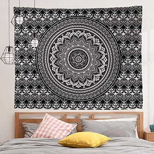 AdoDecor Mandala Indian Tapestry Wall Hanging Travel Mattress Tapestries Bohemian Beach Mat Blanket Home Bedroom Art Carpet 150x130cm