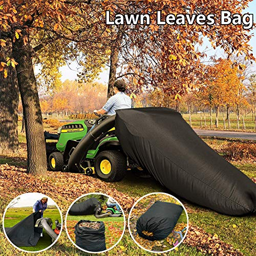 Lawn Leaf Bag for Tractor,Reusable Collecting Leaves Waste Bag,Mower Leaf Bag,Faster Lawn Cleanup Bag