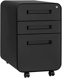 Stockpile 3-Drawer File Cabinet, Commercial-Grade (Black)