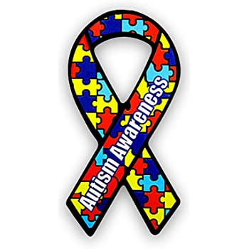 1 Decal - Retail Fundraising For A Cause Small Autism Ribbon Awareness Decal