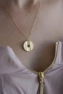 Israeli Phone Token Golden Necklace
