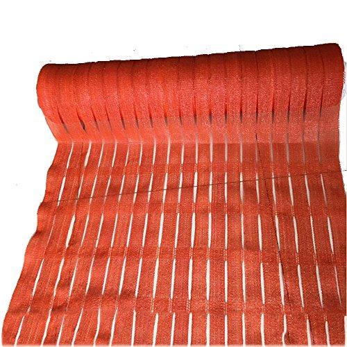 DUO Voiles d'ombrage Écran de la vie privée de barrière de 1 * 50m, tissu extérieur commercial de maille de pare-brise d'ombre d'arrière-cour 3 ans de garantie pour plante et fleur (Color : Red)